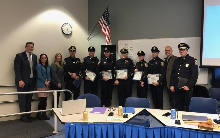 Swampscott Police being honored at Select Board Meeting