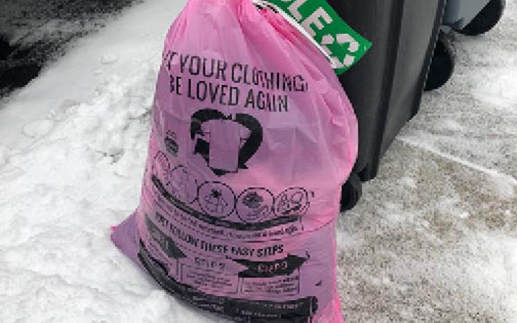 Simple Recycling Pink Bags